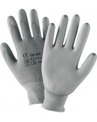 Arbeitshandschuh für Montage, Nylon grau, Gr&