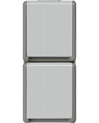 Aufputz-SCHUKO-Steckdose 151 mm x 66 mm x 54 mm