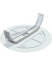 Federdeckel weiß, D= 95mm