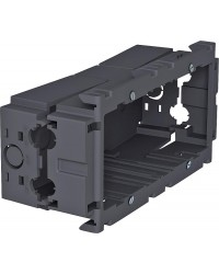 Geräteeinbaudose, zweifach grau Typ 71GD7