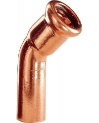Kupfer Pressfitting Bogen 45° 18mm i/a
