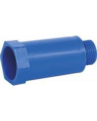 """Baustopfen 1/2"""" mit Kunststoffgewinde blau"""