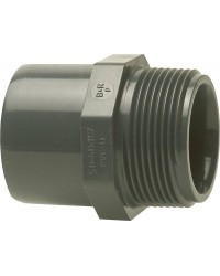 "PVC-U - Klebefitt 20/16 mm x 3/8"", AG Üb"