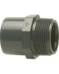 "PVC-U - Klebefitt 25/20 mm x 3/4"", AG Üb"