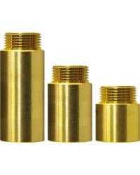 """Hahnverlängerung 1/2"""" 15mm - Messing"""