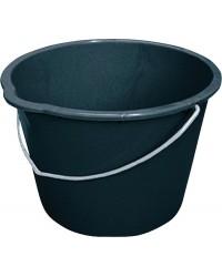 Baueimer 20 Liter schwarz, mit Tülle