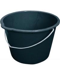 Baueimer 12L schwarz mit Tülle