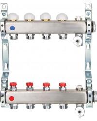 Heizkreisverteiler Edelstahl integrierte Ventile D