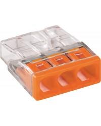 Verbindungsdosenklemmen 3-Leiter-Klemmen, orange