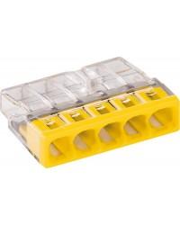 Verbindungsdosenklemmen 5-Leiter-Klemmen, gelb