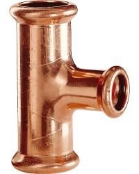 Kupfer Pressfitting M-Kontur T-Stück,reduziert 18x15x18