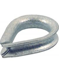 Seilkausche 14mm Stahl- galvanisch- verzinkt