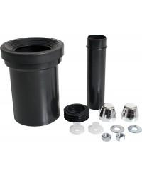 WC- Anschlussgarnitur mit Abflussrohr 110mm und verchromten Kappen