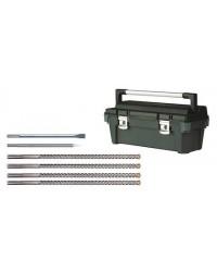 4SDS-max Bohrer und 2Meißel im Koffer